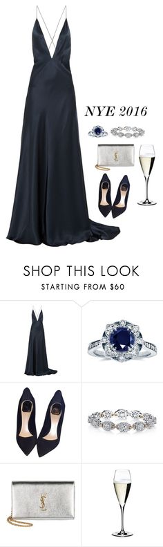 """NYE 2016"" by lowrilester ❤ liked on Polyvore featuring Michael Lo Sordo, Kobelli, Christian Dior, Harry Kotlar, Yves Saint Laurent, Riedel and nye2016"