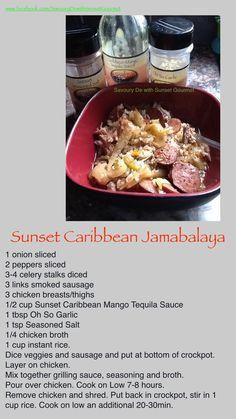 Super easy and oh so tasty! One pot goodness. Gourmet Recipes, New Recipes, Healthy Food, Healthy Recipes, Seasoned Salt, Recipe Using, Super Easy, Crockpot, Sausage