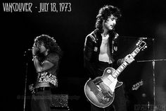 Robert Plant and Jimmy Page of Led Zeppelin - Pacific Coliseum - July 18, 1973