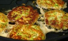 Golden brown zucchini patties with the salty tang of feta cheese. A great way to use up zucchini and a perfect low carb appetizer or side dish. Vegetarian Recipes Easy, Vegetable Recipes, Paleo Recipes, Low Carb Recipes, Cooking Recipes, Vegetarian Keto, Meal Recipes, Feta, Low Carb Vegetables