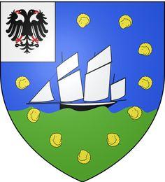Blason ville fr Cancale (Ille-et-Vilaine) Bretagne