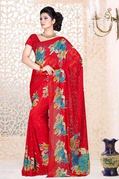 Red Georgette Saree et Red Blouse Prix:-41,02 € Designer indienne saris rouges sont maintenant en magasin présente par Andaaz Mode . Agrémentée de travaux imprimés et Red Georgette Chemisier manches courtes . Ceci est parfait pour le mariage , l'usure du festival , décontracté , cérémonial . http://www.andaazfashion.fr/red-georgette-saree-and-red-blouse-dmv7866.html