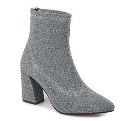 Silver 40 Zipper Glitter Pointed Toe Ankle Boots (940 RUB) ❤ liked on Polyvore featuring shoes, boots, ankle booties, silver boots, pointy-toe ankle boots, glitter booties, glitter boots and zipper boots