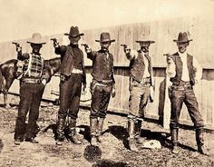 These five Texas Rangers at camp near Alice most likely investigated cattle rustling claims from the legendary King Ranch, which, as Emmett Robuck's story shows, could bring an early visit from the Grim Reaper. Texas Rangers Law Enforcement, Old West Outlaws, Westerns, Old West Photos, Cowboys And Indians, Real Cowboys, Black Cowboys, Into The West, The Lone Ranger
