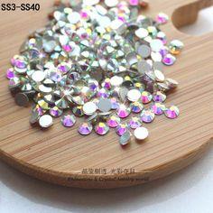 슈퍼 반짝이 모조 다이아몬드 크리스탈 AB ss3-ss40 DMC 핫 수정 FlatBack 스트 라스 봉제 및 직물 의류 라인 석 네일 아트 돌