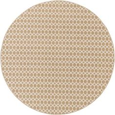 Alcott Hill Casper Neutral Indoor/Outdoor Area Rug Rug Size: Round 8'