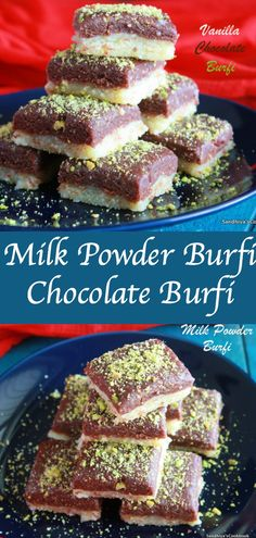 Double Decker Milk Powder Burfi | Chocolate Burfi | Diwali Sweet