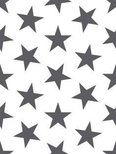 Lucky Star Wallpaper in Charcoal by Sissy + Marley for Jill Malek