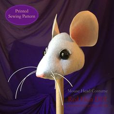 Mouse Rat Head Costume Pattern PRINTED PATTERN by RedHenDIY