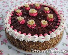 Nuts and chocolate cake - Yum Goggle Nut Recipes, Cake Icing, Yummy Cupcakes, Cakes And More, Summer Recipes, Chocolate Cake, Sweet Treats, Birthday Cake, Desserts