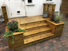 Patio Steps, Deck Stairs, Outdoor Spaces, Outdoor Decor, Exterior Design, Home Remodeling, Sweet Home, Yard, House