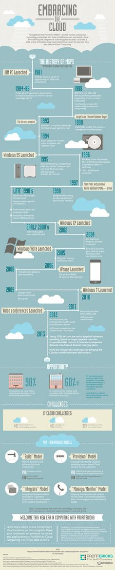 Embracing the Cloud Computing #infografia #infographic
