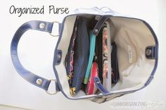 Organized Purse - learn some tips and tricks | OrganizingMadeFun.com