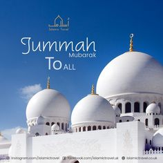 """The best day the sun rises over is Friday; on it Allah created Adam. On it, he was made to enter paradise, on it he was expelled from it, and the Last Hour will take place on no other day than Friday"""". [Ahmad and At-Tarmithi] Jummah Mubarak Messages, Jumma Mubarak Images, Juma Mubarak Quotes, Jumma Mubarik, Friendship Messages, Ayatul Kursi, Blessed Friday, Islamic Quotes Wallpaper, Religion"""