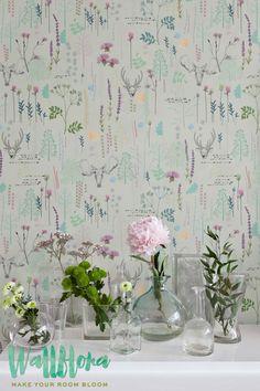 Seemleas Vinatge Pattern Wallpaper   Removable Wallpaper   Vintage Wall Decal   Deer Wall Sticker   Vinatge Self Adhesive Wallpaper
