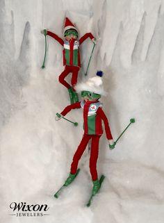 New Ideas for Elf on the Shelf - Christmas Tips The Elf, Elf On The Shelf, Christmas Traditions, Shelves, Holiday Decor, Fun, Shelving, Shelf, Open Shelving