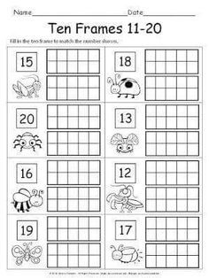 photo about Free Printable Ten Frames identified as Printable 10 Frames 1 20 Absolutely free