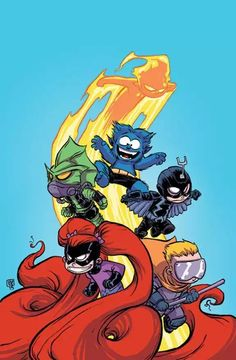 Uncanny Inhumans #1 variant cover by Skottie Young