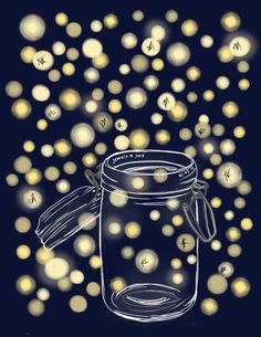 Items similar to DIY Printable Thumbprint Tree Guest Book Alternative: Fireflies in Mason Jar on Etsy Printable Invitations, Printables, Thumbprint Tree, Fingerprint Art, Guest Book Tree, Diy Wedding, Wedding Ideas, Wedding Finger, Light Wedding