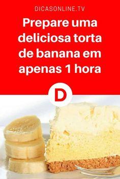 Torta de banana facil | Prepare uma deliciosa torta de banana em apenas 1 hora | O seu FORNO não funciona? Você não vai precisar disso para esta sobremesa