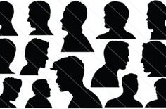Men Head Silhouette Vector