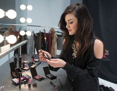 Step by step- how to get Lucy Hale's purple smokey eye. Would work amazingly to bring out the greens in an eye!