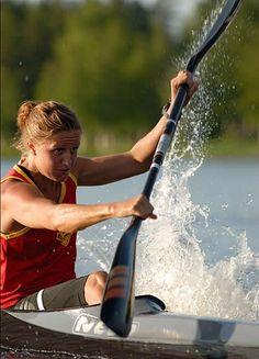 Canoe creek kayak paddled river rowing spank shit