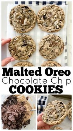 Malted Oreo Chocolate Chip Cookies is part of Malted Oreo Chocolate Chip Cookies Picky Palate - Sharing my Malted Oreo Chocolate Chip Cookies today! Chocolate Chip Cookies PERFECTION Brown butter cookies packed with Oreo Cookies and chocolate Oreo Cookies, Chocolate Chip Cookies, Chocolate Brownies, Cookie Recipes, Dessert Recipes, Baking Desserts, Dessert Ideas, Baking Recipes, Brown Butter Cookies