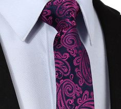 "TF338K7 Pink Blue Floral 2.75"" 100%Silk Woven Slim Skinny Narrow Men Tie Necktie Handkerchief Pocket Square Suit Set"