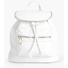 Boohoo Lydia Zip Detail Rucksack ($30) ❤ liked on Polyvore featuring bags, backpacks, white, cross body, shopping bag, envelope evening clutch, white cross body bag and envelope clutch bag