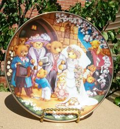 Collector Plates Franklin Mint Heirloom by PenelainAntiques, $24.95 Bear Wedding, Wedding Plates, Franklin Mint, Fine Porcelain, My Ebay, The Collector, Snow Globes, Star Wars, Teddy Bear