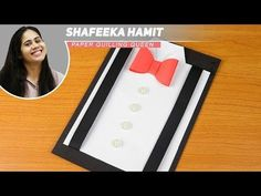 DIY Suit-Tuxedo Greeting Card Tutorial | How To Make Greetings | Father's day | How To Craft - YouTube