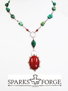 The Santa Fe Necklace by Sparks and Forge.  Southwest boho style.