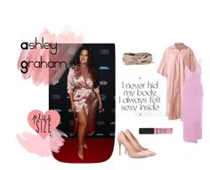 """Ashley Graham Silky Pink outfit"" by boncheapbongenre on Polyvore featuring ALDO, Ashley Graham, Ada, NYX, ashleygraham and plussizeoutfit"