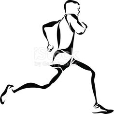 vector illustration of a track runner. Global black used for easy editing. ZIP file contains a transparent PNG and high resolution JPEG file.