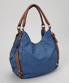 Take a look at this Blue Belted Tote on zulily today!