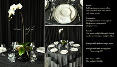 True Style is just one of the many options of 'Pre Designed' packages available at www.StageRightRentals.com. Priced per table including delivery ( within Kelowna) , set up and take down! Serving the Okanagan Valley.