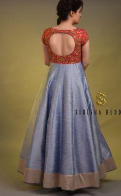 Sari Blouse Designs, Kurti Neck Designs, Fancy Blouse Designs, Kurta Designs Women, Dress Neck Designs, Kurti Designs Party Wear, Designs For Dresses, Long Gown Design, Silk Dress Design