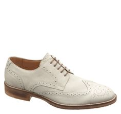 McPHERSON WINGTIP - Off-White Italian Suede from Johnston & Murphy  #johnstonmurphy, #fallstyle