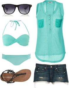 """""""Day at the beach"""" by cris-cali ❤ liked on Polyvore"""