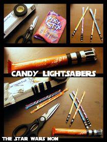 DIY Candy Lightsabers
