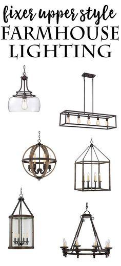 Fixer Upper Style Farmhouse Lighting options at al…