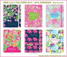 New 2013 - 2014 Lilly Pulitzer Agendas - the most colorful, fun and useful planners!