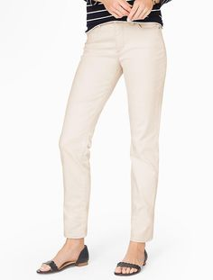 *sandrock color* The Flawless Five-Pocket Ankle Jean - Talbots