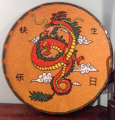 Dragon tattoo mosaic