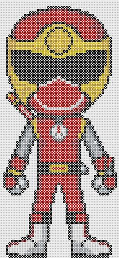 Power Ranger perler bead pattern by Sebastien Herpin