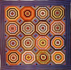 Pieced Quilt Cobweb 1910 Pennsylvania by SurrendrDorothy, via Flickr
