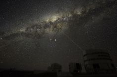 """""""On the night of 21 July, ESO astronomer Yuri Beletsky took images of the night sky above Paranal, the 2600m high mountain in the Chilean Atacama Desert home to ESO's Very Large Telescope. The amazing images bear witness to the unique quality of the sky, revealing not only the Milky Way in all its splendour but also the planet Jupiter and the laser beam used at Yepun, one of the 8.2-m telescopes that make up this extraordinary facility."""""""