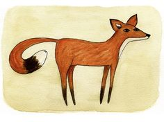 Fox  5x7 Print by heatherfuture on Etsy, $12.00