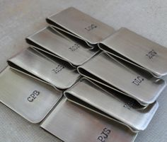 Monogram money clip. Turn to ETSY for customized gifts for the groomsmen.